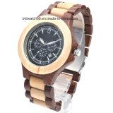 Hölzerner Uhr-Multifunktionschronograph-hölzerne Uhren für Geschenk
