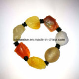 Bracelete natural do cristal do Carnelian de Gemstone