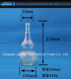 Unregelmäßige Formcalabash-Glasflasche für weißen Wein