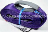 Weaved sintetico Polyester Webbing Slings/Lifting Sling/Hoisting Sling con Lifting Eyece, GS Certificated
