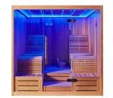 Saúde clara romântica de encontro do diodo emissor de luz da posição dos pares dois e cabine morna M-6050 da sauna do lazer