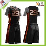 バスケットボール昇華を用いる均一デザインCamoの印刷のバスケットボールのジャージーのロゴデザイン