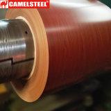 As bobinas de madeira decorativas do aço do teste padrão coloriram bobinas de madeira do metal de PPGI