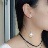 Bengelt de Dunne Ketting van de Oorringen van de Daling van de simuleren-parel Earings
