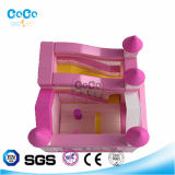 Cocowater 디자인 분홍색 집 주제 팽창식 도약자 또는 활주 LG9021