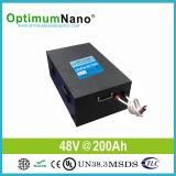 Batterie solaire de l'ion 48V 200ah de lithium pour le système 10kwh solaire