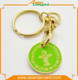 Heißer Verkaufs-Plastiklaufkatze-Münze Keyholder