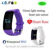 Armband Bluetooth van het Tarief van het hart de Slimme met de Sleutel van de Aanraking (D21)