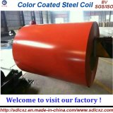 El color cubrió la bobina de acero galvanizada de PPGI (0.14--1.3m m) Material de construcción