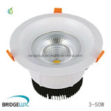 5W 10W 20W 30W 40W 50W vertiefte LED Downlight Bridgelux LED Chip PFEILER LED Decken-Punkt-Lichter
