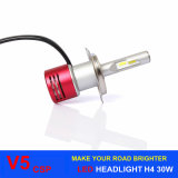 Farol do diodo emissor de luz do farol H4 do carro do farol V5 Csp da C.C. 8-32V auto para o carro universal