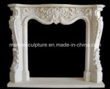 Mantel de marbre normal blanc de bordure de cheminée (SY-MF035)