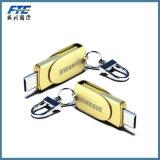 De Stokken van het metaal USB voor android/PC/Mac/I-Telefoon