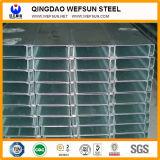швеллерная балка 6m или 5.8m гальванизированная длиной стальная c