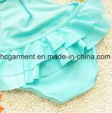 Le lacet de la fille a plissé le procès de natation de jupe, belle usure d'une seule pièce de natation