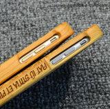 Le laser de coutume gravent les couvertures mobiles en bois pour la caisse en bois de téléphone découpée par 6/6s d'iPhone