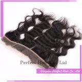 Frontal indiano malese del merletto dei capelli umani del Virgin di Remy