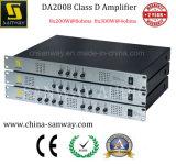 Amplificador de potencia del sistema 1u del teatro casero del canal de la Clase-d 8 de Da2008 8X300W