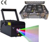 репроектор лазера сочинительства одушевленност Multicolor лазерного луча 4000MW RGB беглый