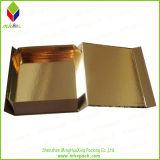 Коробка ретро сусального золота типа бумажная упаковывая складывая
