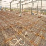 Edificio prefabricado ligero de la fábrica de la estructura de acero con el entresuelo