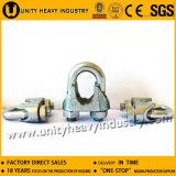 Clips de corde malléables de fil d'acier DIN 741