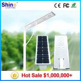 O melhor preço todo em uma luz de rua solar 6W do diodo emissor de luz, 9W, 12W, 15W, 18W, 30W, 40W, 60W, 80W, 100W com os painéis solares Monocrystalline