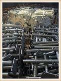 Bouchon de vis sans fin réglable à échafaudage galvanisé avec plaque de base