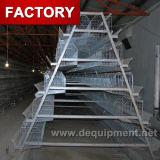 Emboîtement des rangées 4 de la ferme 3 du Zimbabwe galvanisé soulevant des cages de poulet
