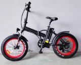 Велосипед тучной автошины 20 дюймов электрический с складывая рамкой сплава
