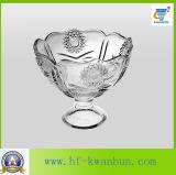 Verrerie douce Kb-Hn0151 de bol de sucrerie de cuvette en verre de crême glacée