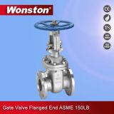 Geflanschter Enden-Absperrschieber für Öl-Wasser-Gas ANSI Standard150lb