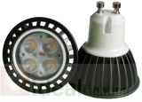 Proyector 110V/230V Dimmable Alu negro del LED GU10 4X1w
