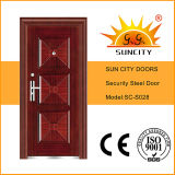 Marca Steel Door per la Nigeria Market Stainless Steel Single Door Design (SC-S028)