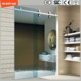 Cadre réglable en acier inoxydable 6-12 verre trempé Salle de douche simple glissante, cabinet de douche, cabine de douche, salle de bain, écran de douche