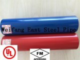 Tubulação de aço pintada vermelha