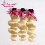 cheveu d'onde de corps de Weavon de couleur de 1b/613 Ombre, prolonge malaisienne de cheveux humains