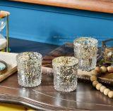 Tarro de cristal votivo de plata de la vela de Tealight del Mercury/sostenedor de vela de cristal