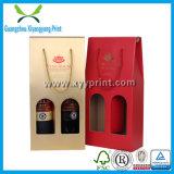 Guter Preis-kundenspezifischer Wein-Flaschen-Papier-Geschenk-Kasten mit pp.-Griff
