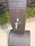 Well Furnir Outdoor Beach Rattan Shower