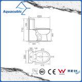 Toalete cerâmico do armário de duas partes de Siphonic do banheiro (AT6800)