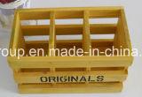 Rectángulo de almacenaje respetuoso del medio ambiente modificado para requisitos particulares vendimia de lujo de madera sólida de la alta calidad