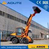 Chinesische Fabrik-teleskopische Rad-Ladevorrichtungs-Hochkonjunktur-Ladevorrichtung für Verkauf