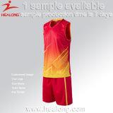 Conjuntos de encargo de los uniformes de los jerseys del baloncesto del último espacio en blanco de la sublimación mejores