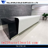 Corian Light Up Bar Bureau d'accueil Modern Black Reception Desk