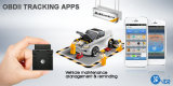 Arbeit mit Unique Tracking APP Hidden GPS Tracker OBD2 mit Vehicle Maintenance Notification
