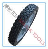 Una rotella di gomma Semi-Pneumatica da 16 pollici per il poli carrello del giardino