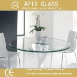 espace libre de cercle de 10mm gâché/verre trempé pour le dessus de table basse/la glace meubles d'hôtel
