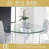 コーヒーテーブルの上/ホテルの家具ガラスのための8mmの円のゆとりの和らげられたか、または強くされたガラス