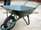 南アフリカ共和国の粉の上塗を施してある構築の手押し車(Wb6400)